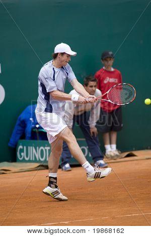 MONTE CARLO MONACO APRIL 21, Feliciano Lopez ESP v Andy Murray GBR competing in the ATP Masters tournament in Monte Carlo, Monaco, 19-27 April 2008