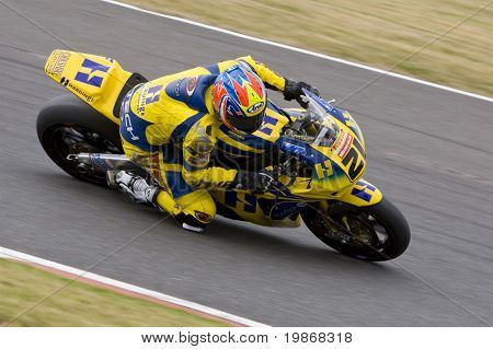 SILVERSTONE ENGLAND - SEPT 26: Rider number 21 Tom Tunstall GBR riding for Hardinge Doodson Motorsport  during the free practice session of the British Superbike Championship on September 26, 2009 in Silverstone, England