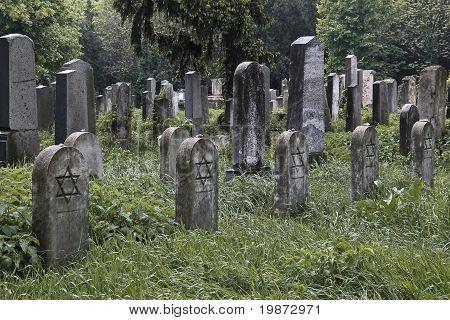 5 Jewish Tombstones