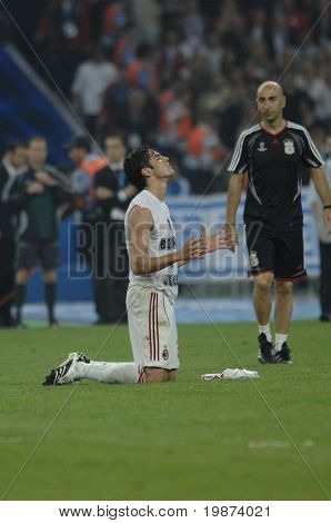 ATHENS - MAY 23: Ricardo KAKA of Milan FC after the final whistle od the UEFA Champions League 2006/07 Final match Milan-Liverpool 2:1. May 23, 2007, in Athens, Greece
