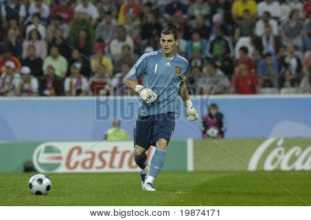 INNSBRUCK - JUNE 10: Iker Casillas of Spain Football National Team during the match Spain-Russia 4:1 Euro2008 Group D. June 10, 2008, in Innsbruck, Austria