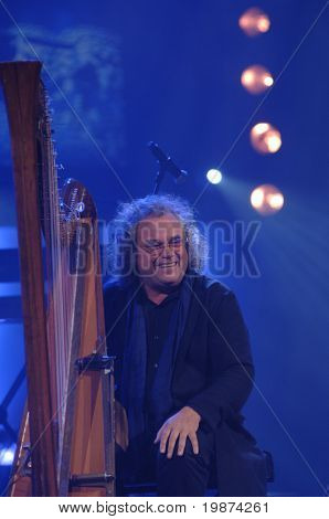YEREVAN - NOVEMBER 11: Andreas Vollenweider during Jivan Gasparyan's 80years celebration evening. November 11, 2008, in Yerevan, Armenia