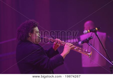 YEREVAN - NOVEMBER 11: Pedro Eustache during Jivan Gasparyan's 80years celebration evening. November 11, 2008, in Yerevan, Armenia