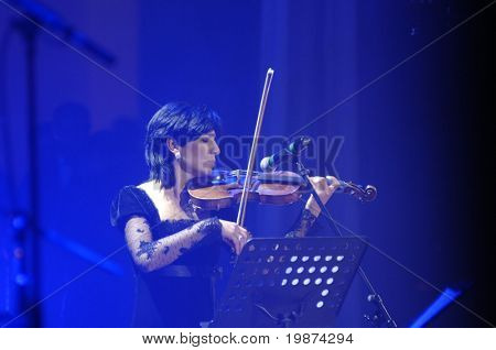 YEREVAN - NOVEMBER 11: Emma Petrosyan during Jivan Gasparyan's 80years celebration evening. November 11, 2008, in Yerevan, Armenia