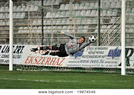 KAPOSVAR, HUNGARY - APRIL 4: Nenad Filipovics in action in the Hungarian National Championship soccer game between Kaposvari Rakoczi FC and FC Fehervar April 4, 2009 in Kaposvar.
