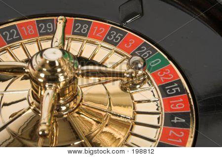 Statische Roulette mit Ball auf 0 (null)