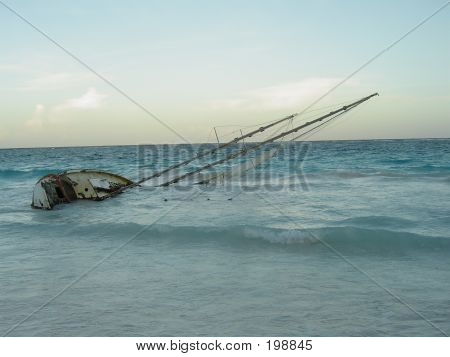 Plunged Sailing Boat