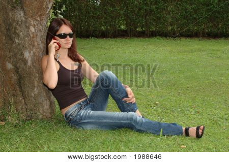 Leaning Under A Tree