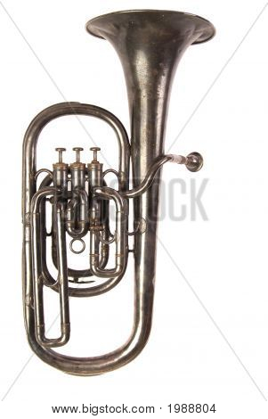Antique Baritone Horn, White Iso