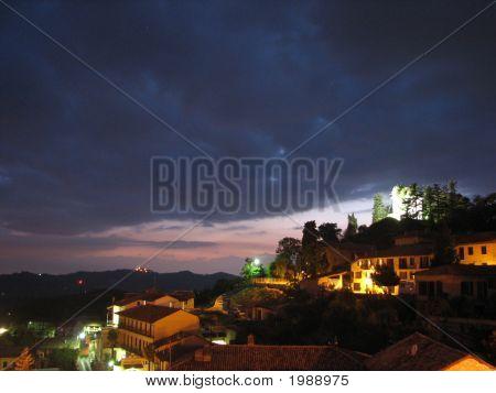 Italian Castle And Village