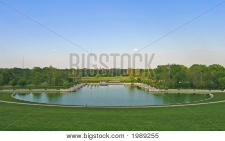 Grand Basin At Forest Park In St. Louis