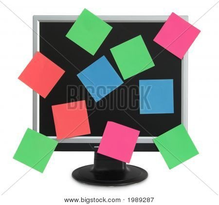 Postit In The Monitor