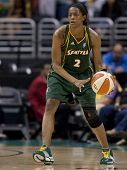 LOS ANGELES, CA. - SEPTEMBER 16: Swin Cash in action during the WNBA playoff game of the Sparks vs.
