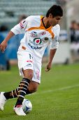 CARSON, CA. - JANUARY 10: Edgar Andrade in action during InterLiga 2010 match of Tigres vs. Jaguares