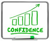 Confidence Self Assured Confident Arrow Rising Trend 3d Illustration poster