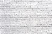 stock photo of arriere-plan  - A white brick wall - JPG