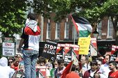 BRIGHTON, UK-JUNE 6: Pro-Palestinian and Gaza strip demonstration, June 6, 2010 in Brighton, United