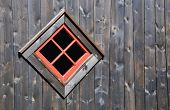 picture of arriere-plan  - Red window on a dark wooden wall - JPG