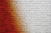 image of arriere-plan  - Gradient brick wall - JPG