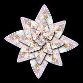 3D Rendering Glossz Flower Artwork poster