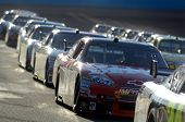 AVONDALE, AZ - APRIL 18: Dale Earnhardt Jr. #14 in a line of cars at the start of the NASCAR Sprint