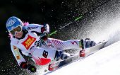 BORMIO ITALY MARCH 15 Eva Maria Brem Austria skiing at the Audi FIS World cup finals in Bormio Italy