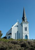 foto of mendocino  - church in mendocino - JPG