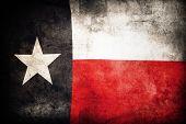 Closeup of grunge Texas flag  poster