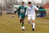 KAPOSVAR, HUNGARY - MARCH 5: Krisztian Kirchner (in green) in action at the Hungarian National Champ