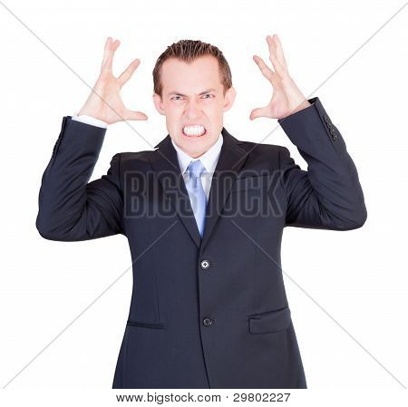 Overwhelmed Business Man