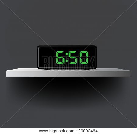 Vector digital clock:wake up time