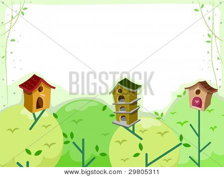 Background Illustration Featuring Treehouses