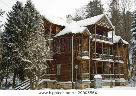 Iwonicz Zdroj - spa town in southern Poland - old guesthouse