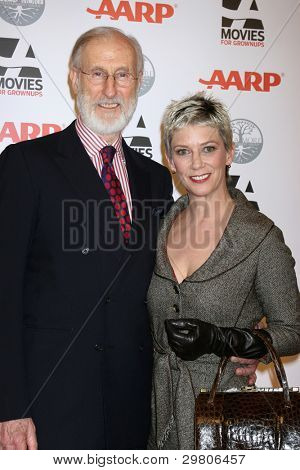 LOS ANGELES - FEB 6:  James Cromwell, Patricia Ward Kelly arrives at the AARP's 11th Annual Movies For Gownups Awards at Beverly Wilshire Hotel on February 6, 2012 in Beverly Hills, CA