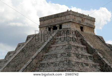 The Top Of Kukulkan Temple