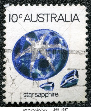 Australia - Circa 1973: A Stamp Printed In Australia Shows Star Sapphire, Circa 1973