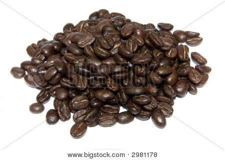 Coffe Beans Isolated On White Background