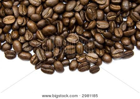 Coffe Beans Isolated On White
