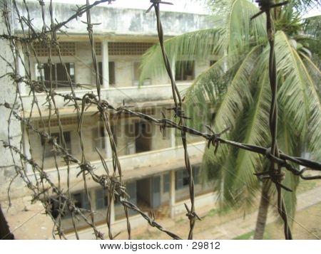 Barbed Wire _Cambodia: Toul Sleng