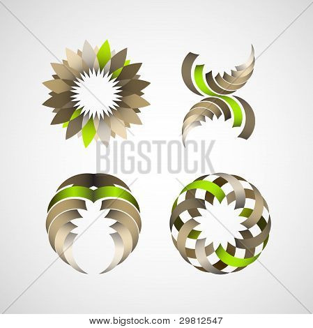 Business Design Elements (icon) Set For Print And Web. Vector
