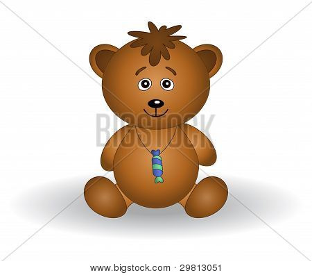 Teddy bear cub with a sweet