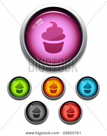 Cupcake Button Icon
