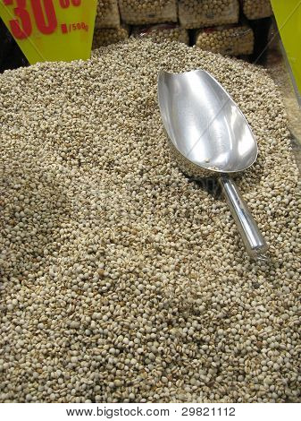Grains Of Barley And Spoon