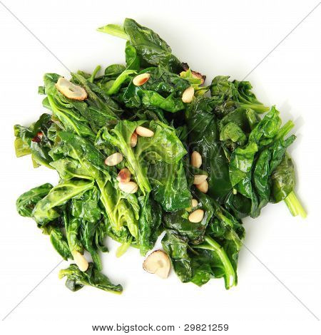 Spinach With Garlic And Pine Nuts