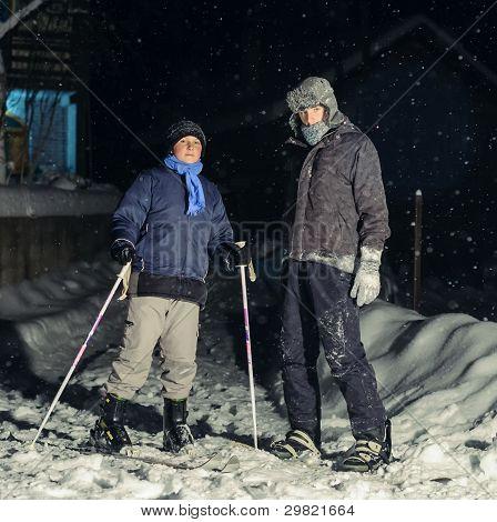 Boys on skis