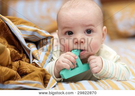Baby Boy Bites Alphabet