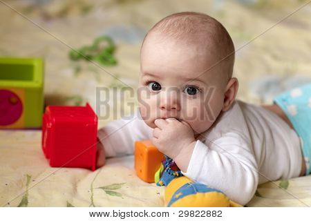 Baby Sucking His Finger