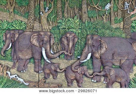 Elephant Thai Stucco