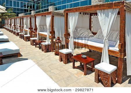 Wood framed canopy