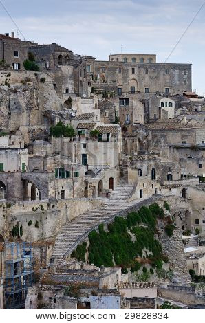 Detail Of Old City Of Matera.
